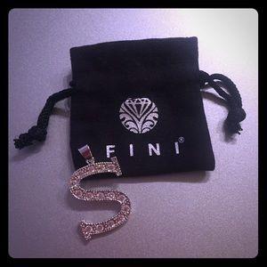 "FINI Sterling Silver ""S"" Initial Pendant"